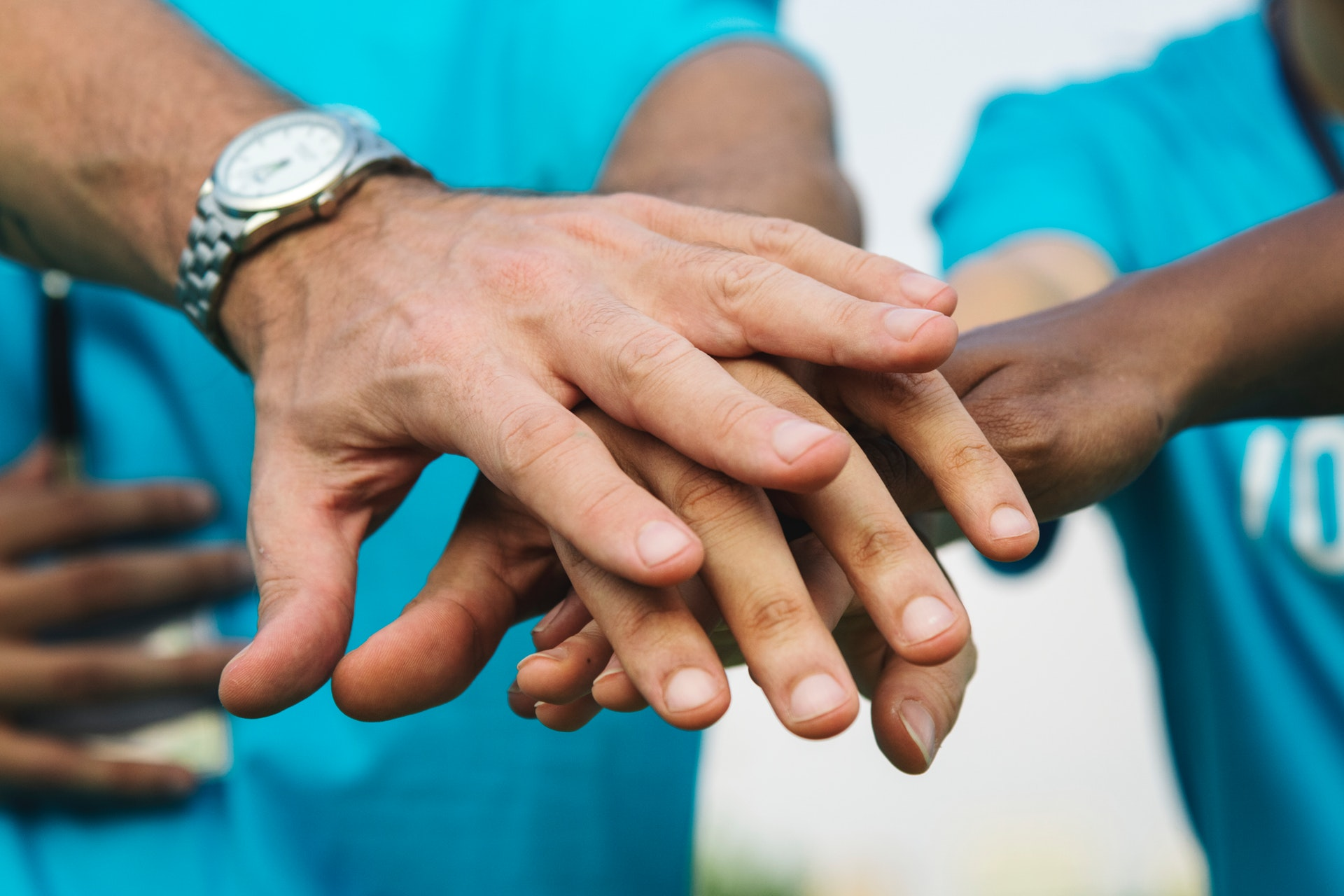 Hands showing collaboration